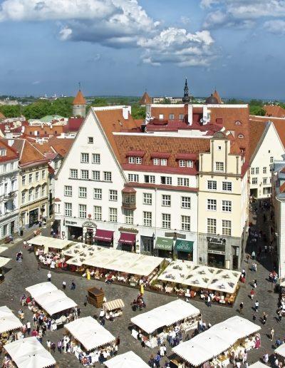 estonia, tallinn, historic center